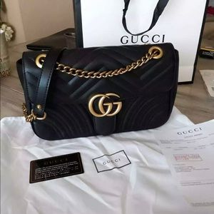 Gucci GG Small Mormont Black Matelasse Bag